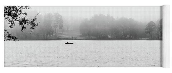 Fishing In The Fog Yoga Mat