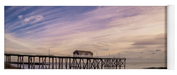 Yoga Mat featuring the photograph Fishing Pier Sunrise by Steve Stanger