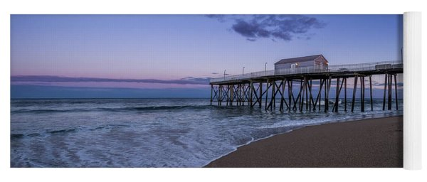 Yoga Mat featuring the photograph Fishing Pier Sunset by Steve Stanger