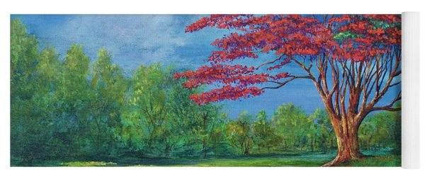 Flame Tree Yoga Mat