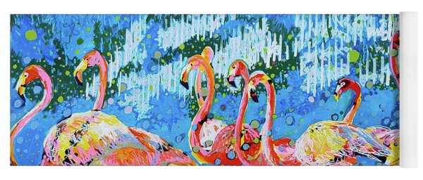 Flamingo Pat Party Yoga Mat