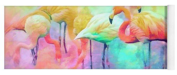 Flamingo Rainbow Yoga Mat