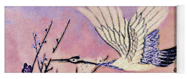 Flight Of The Cranes - Kimono Series Yoga Mat