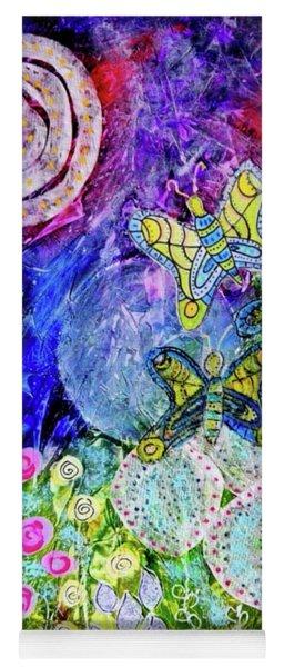Flight Of The Lunar Moths Yoga Mat