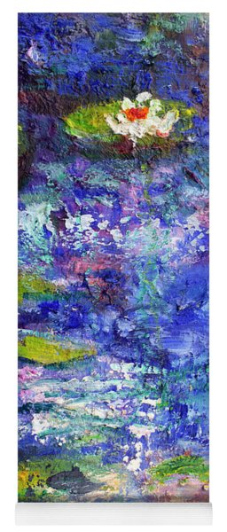 Floating Lilies Oil Painting Yoga Mat