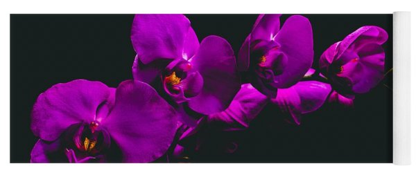 Floating Purple Orchid Yoga Mat