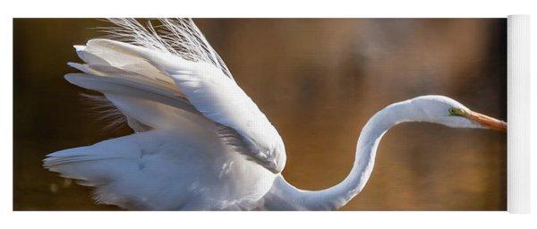 Floofy Egret Yoga Mat
