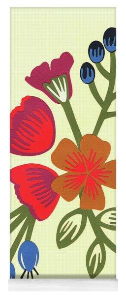 Flora, Cut Paper Yoga Mat