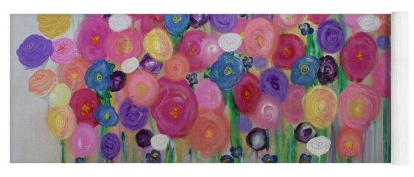 Floral Balloon Bouquet Yoga Mat