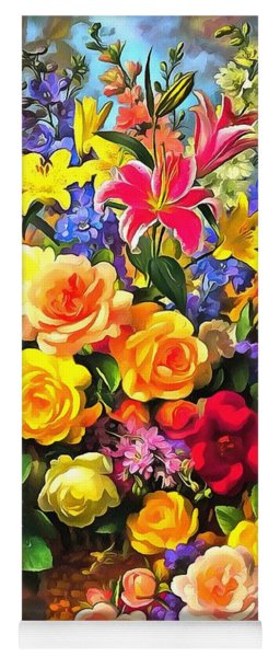 Floral Bouquet In Acrylic Yoga Mat