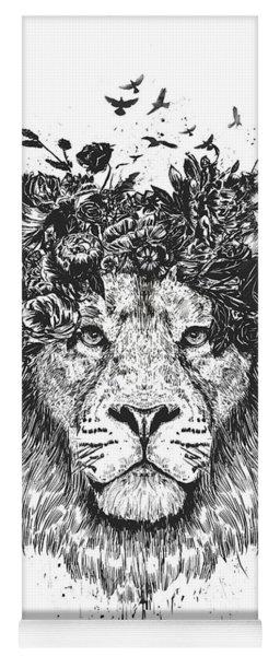 Floral Lion Yoga Mat