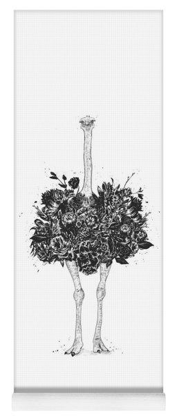 Floral Ostrich Yoga Mat