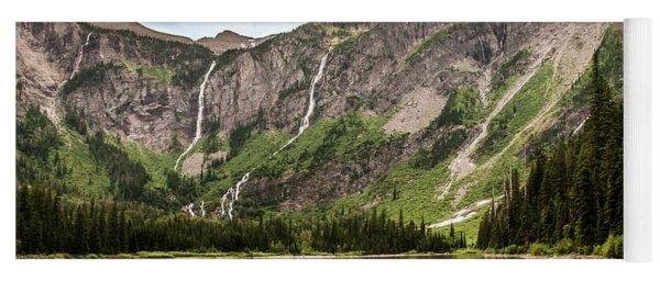 Floral Park Falls Monument Falls Avalanche Basin Falls Across Avalanche Lake Glacier National Park Yoga Mat