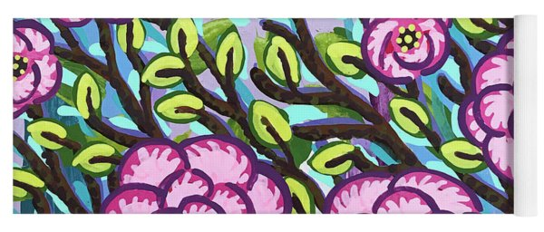 Floral Whimsy 3 Yoga Mat
