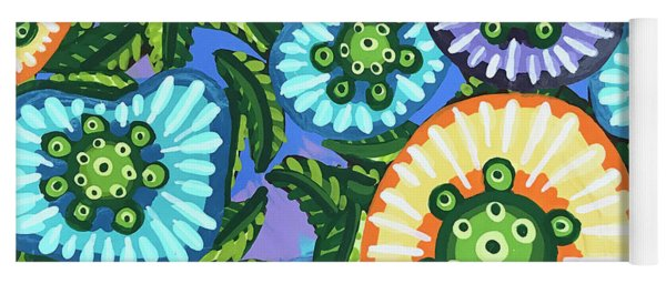 Floral Whimsy 6 Yoga Mat