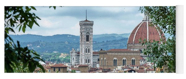 Florence And The Cathedral From The Boboli Gardens Yoga Mat