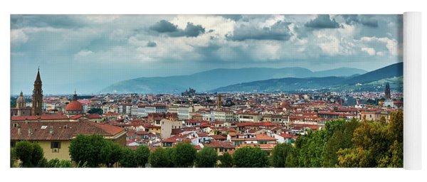 Florentine Cityscape From The Boboli Gardens Yoga Mat