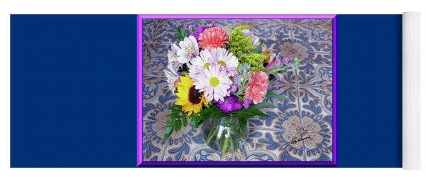 Flower Bouquet  Yoga Mat