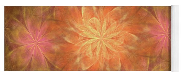 Yoga Mat featuring the digital art Flower Power by Angie Tirado