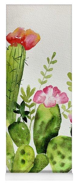 Flowering Cactus Yoga Mat