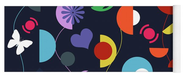 Flowers Abstract  Yoga Mat