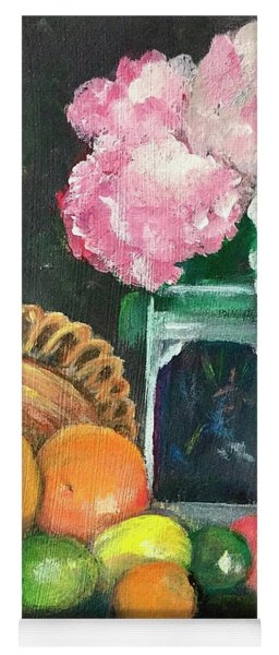 Flowers And Fruit Still Life Yoga Mat