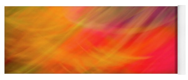 Flowers In Abstract Yoga Mat