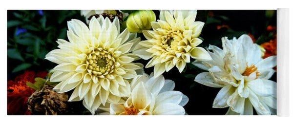 Flowers In The Garden Yoga Mat