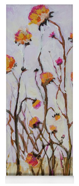 Flowers In Winter Yoga Mat