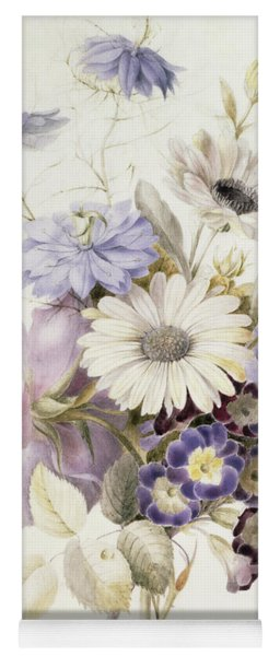 Flowers With Daisies, 1840 Yoga Mat
