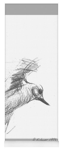 Flying Bird Sketch Yoga Mat