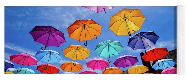 Flying Umbrellas II Yoga Mat
