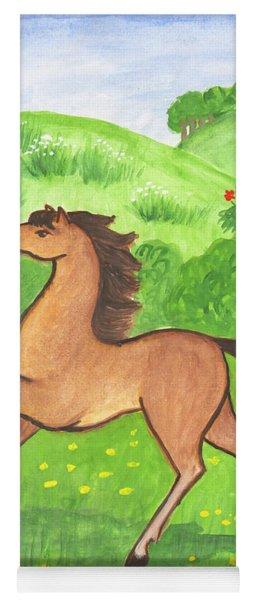 Foal In The Meadow Yoga Mat
