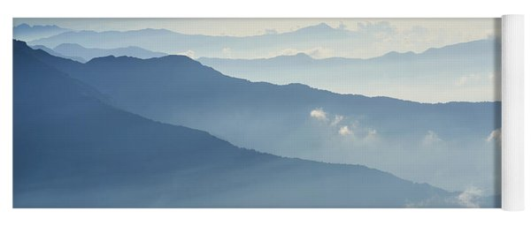 Fog Above Mountain In Valley Himalayas Mountains Yoga Mat