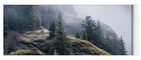 Foggy On Saddle Mountain Yoga Mat