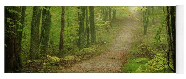 Foggy Path Yoga Mat