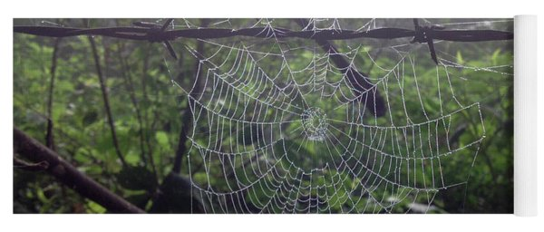Yoga Mat featuring the photograph Foggy Web by Ericamaxine Price