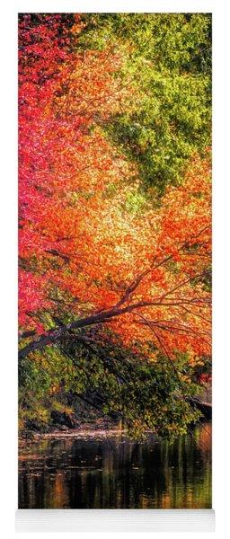 Foliage Over Forge Pond Yoga Mat