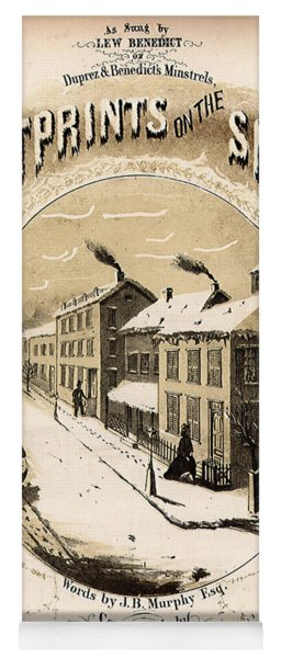 Footprints On The Snow, 1866 Music Sheet Cover Page Yoga Mat