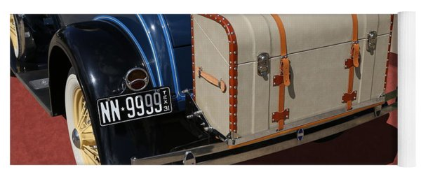 Yoga Mat featuring the photograph 1931 Ford Model A Roadster by Debi Dalio