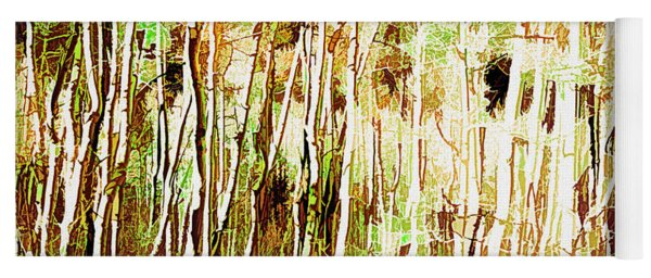 Yoga Mat featuring the digital art Forest For The Trees by Mike Braun