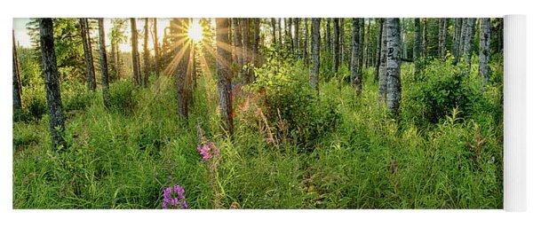 Forest Growth Alaska Yoga Mat
