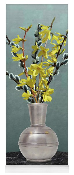 Forsythia And Pussy Willow Yoga Mat