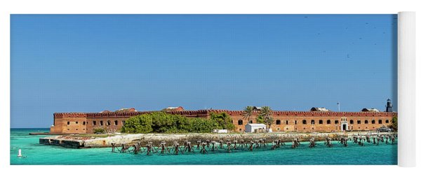 Yoga Mat featuring the photograph Fort Jefferson, Dry Tortugas National Park by Kay Brewer