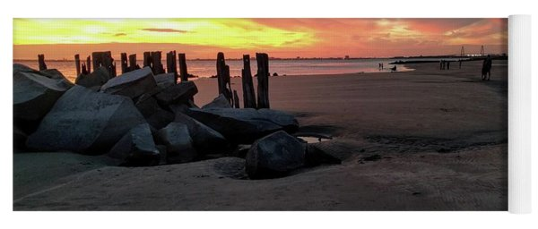Fort Moultrie Sunset Yoga Mat
