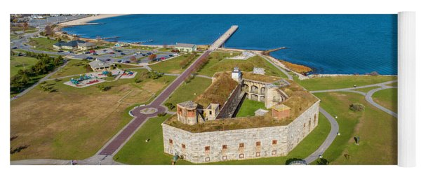 Yoga Mat featuring the photograph Fort Tabor Or Fort Rodman by Michael Hughes