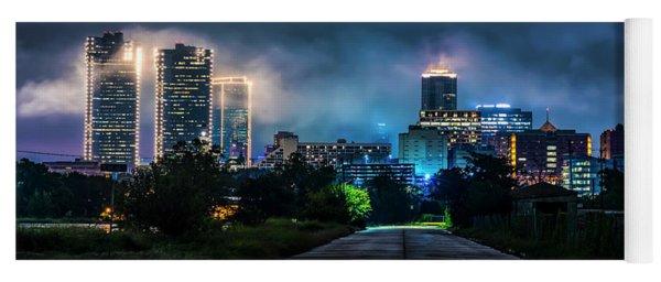 Fort Worth Lights Yoga Mat