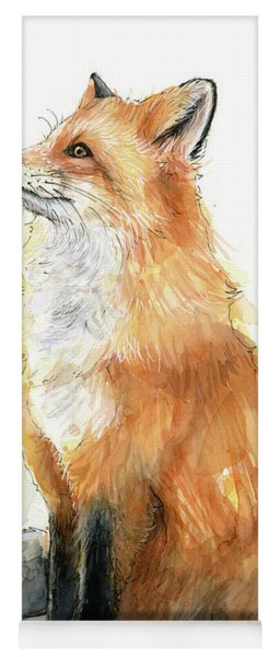 Fox Watercolor Yoga Mat