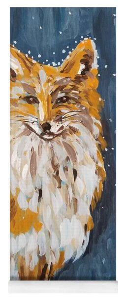 Fox Winter Night Yoga Mat