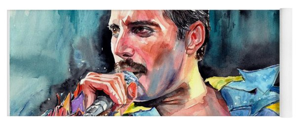 Freddie Mercury, New York City 1983 Yoga Mat